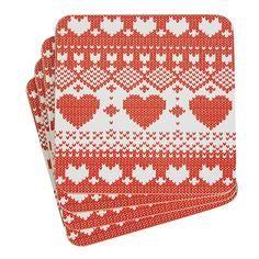 Nordic Collection Knit Coasters #DunelmPinterWonderland #Christmas #Comp #Win #Dunelm
