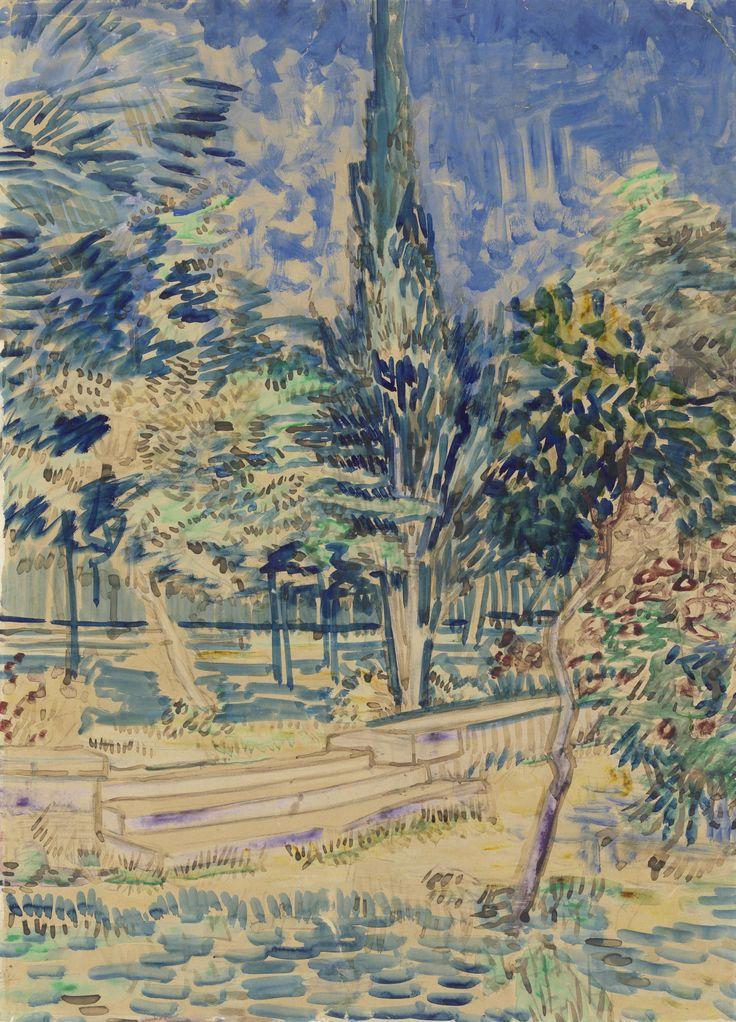 Vincent van Gogh (Dutch, 1853 - 1890)  Stairs in the Garden of the Asylum, N/D