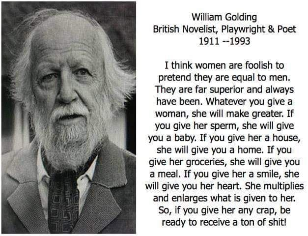 William golding on women