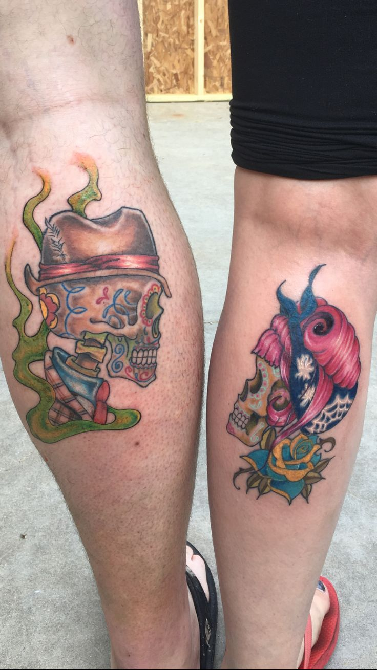 skull couple tattoo ideas