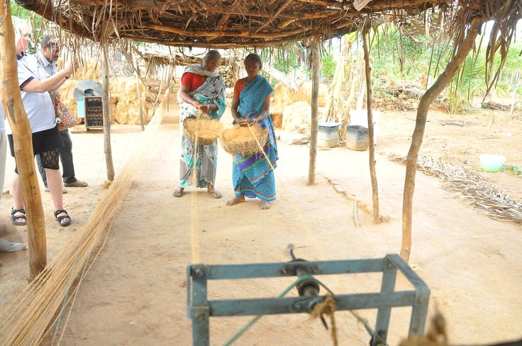 Manufacture of rope using raw material purchased from a micro finance loan.