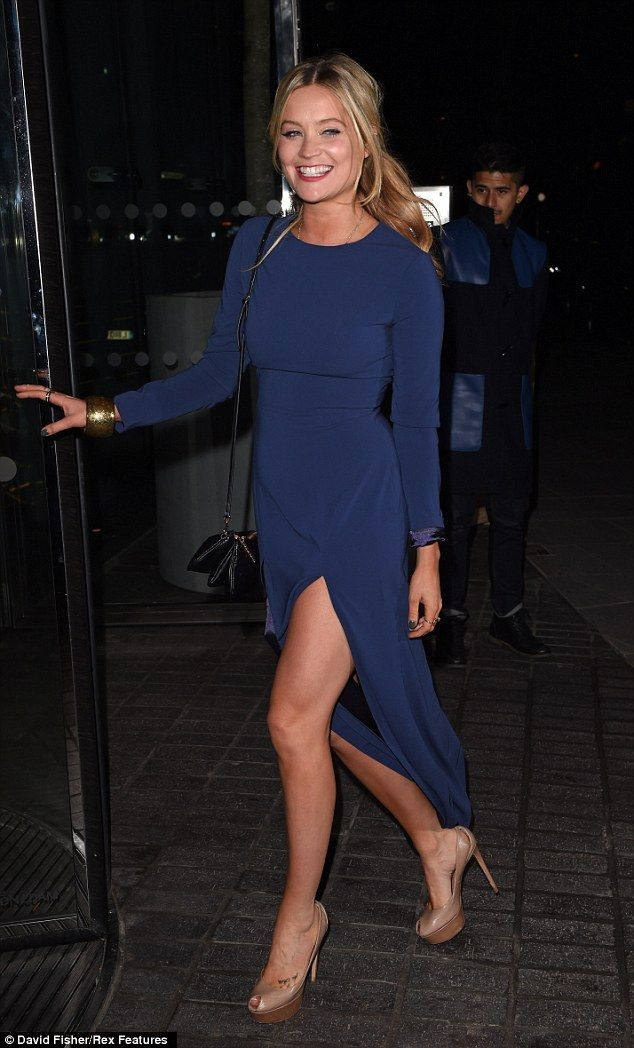 Enjoying herself: Laura looked as though she was having a blast at the star-studded soiree...