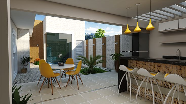 Projeto arquitetura moderna telhado embutido fachada reta for Casa moderna design