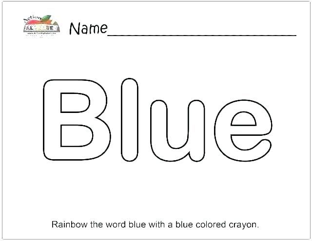 Image Result For Coloring Pictures Of The Word Blue With Pictures Words Coloring Pictures Word List