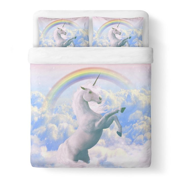 Magical Unicorn Duvet Cover-Shelfies-Queen-| All-Over-Print Everywhere - Designed to Make You Smile