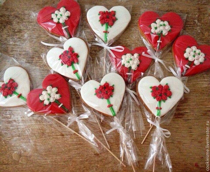 Купить Пряничное сердце - День Святого Валентина, День всех влюбленных, любовь, сердце, розы