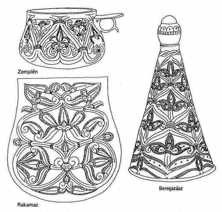 A honfoglalás korából származó régészeti leleteken a palmettás díszítés az uralkodó. A három lelet: a zempléni csésze, a rakamazi tarsolylemez és a beregszászi süvegcsúcs.