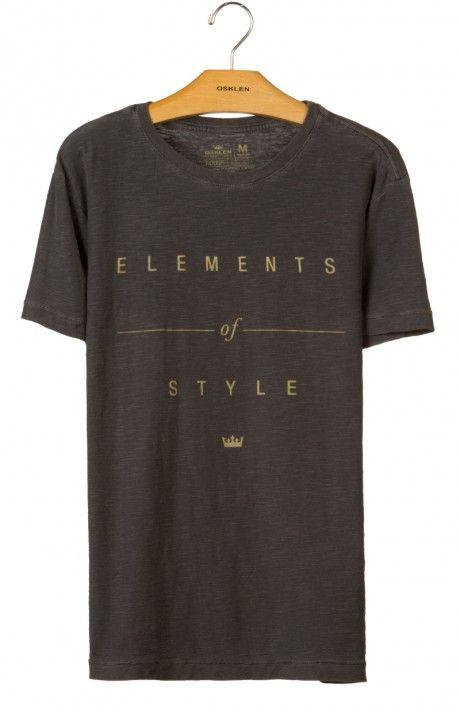Osklen - T-SHIRT ROUGH ELEMENTS OF STYLE - t-shirts - men
