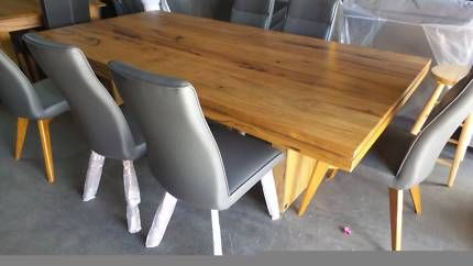 11 PCE DINING SETTING SOLID MARRI DINING WITH 10 CHAIRS IN GREY | Dining Tables | Gumtree Australia West Torrens Area - Thebarton | 1143538978