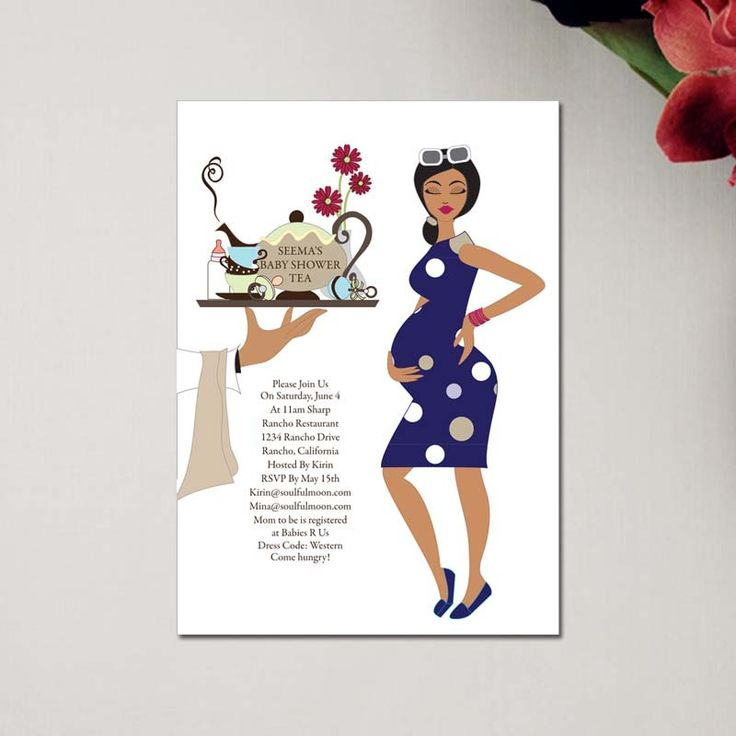 Unique Indian Baby Shower Invitations by #Soulfulmoon-Modern Tea Party