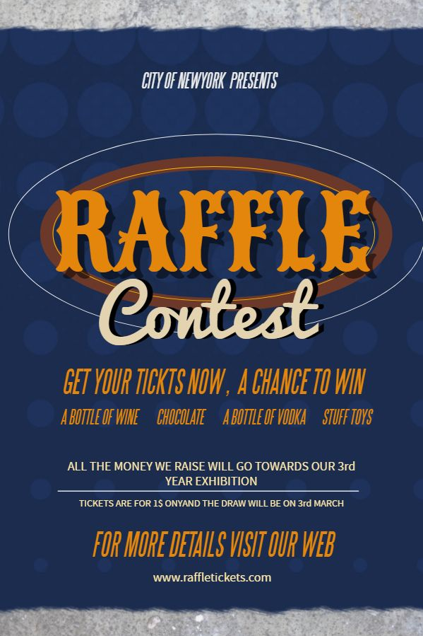 raffle flyer social media post template
