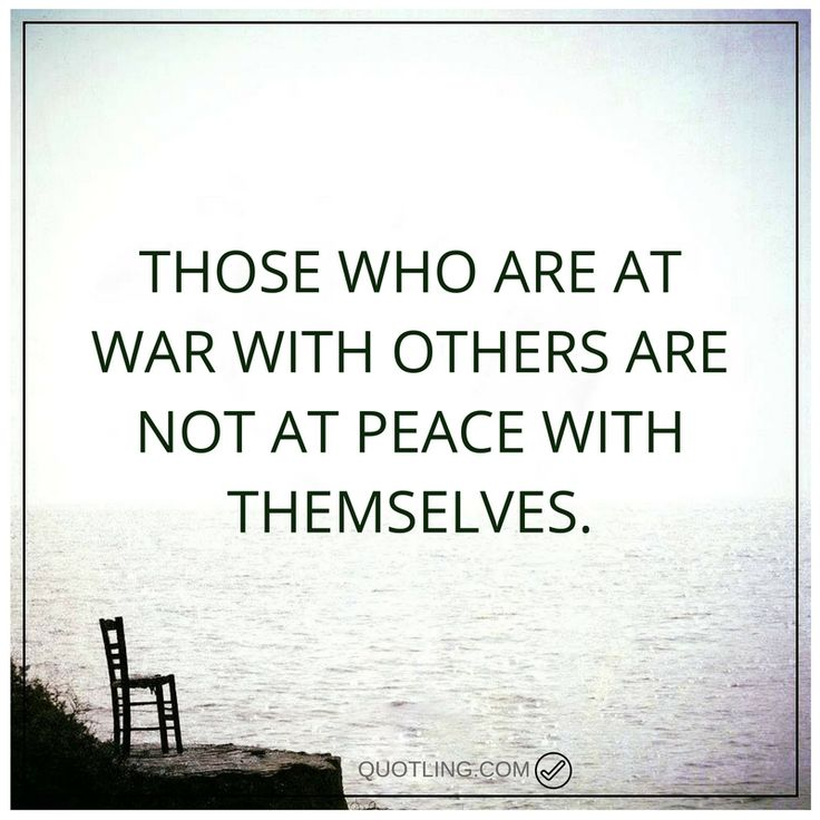 peace quotes Those who are at war with others are not at peace with themselves.