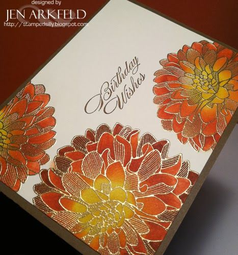 Stamped Silly: All that glimmers REALLY is GOLD! by Jen Arkfeld