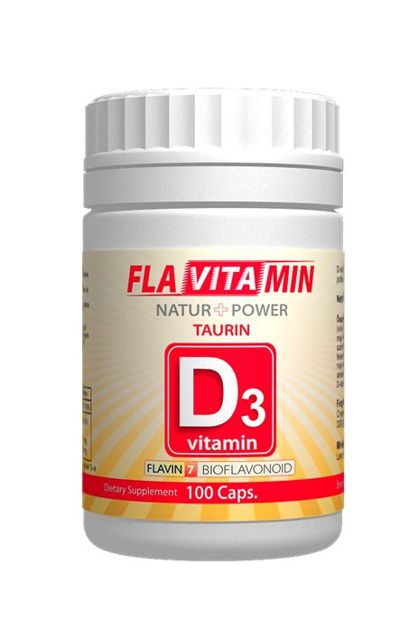 Vitamina D3 cu Flavin 7 Taurina 100 capsule