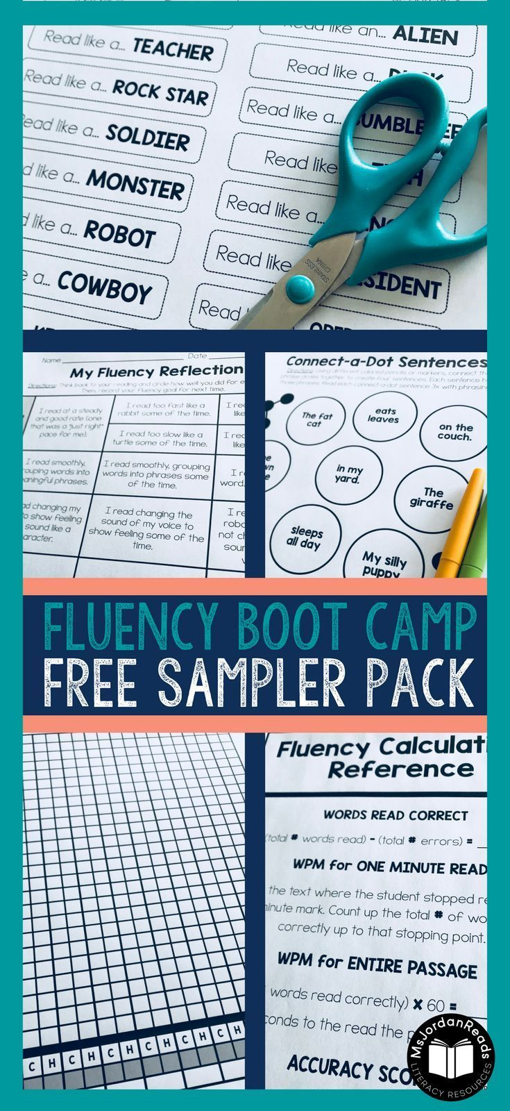 Subscribe To Receive This Free Fluency Sampler From Msjordanreads Over 15 Pages Of Fluency Resources To U Reading Fluency Passages Fluency Fluency Passages [ 1600 x 735 Pixel ]
