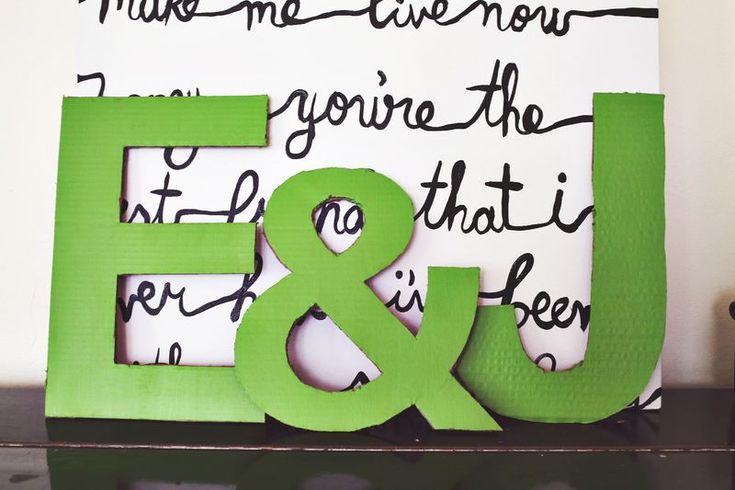 Lettres en carton