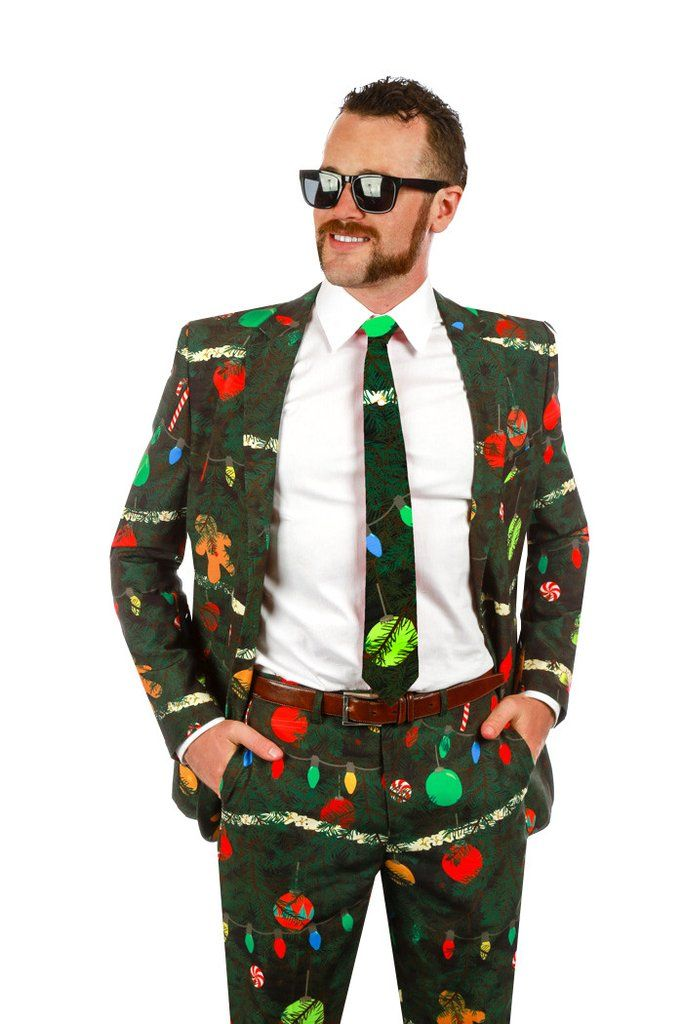 Christmas Tree Camo Ugly Sweater Suit
