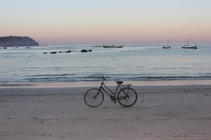 Bike on Myanmar coast