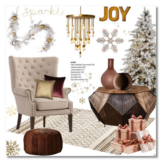 """Sparkle-Joy!"" by helenevlacho ❤ liked on Polyvore featuring interior, interiors, interior design, home, home decor, interior decorating, Home Decorators Collection, Emporium Home, National Tree Company and Casarialto"