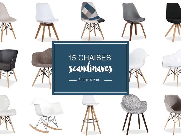 Où trouver des chaises scandinaves design à petits prix ? Réponse sur @decocrush - www.decocrush.fr