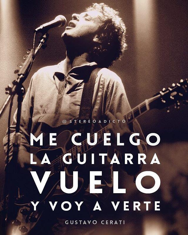 """Vuelo y voy a verte"" #GustavoCerati #Cerati #CeratiEterno #CeratiInfinito #RecordarteEsUnHermosoLugar"