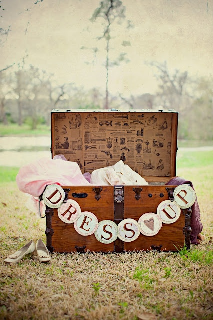 Gorgeous dress up chest - props for the dance floor