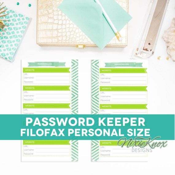 password keeper printable