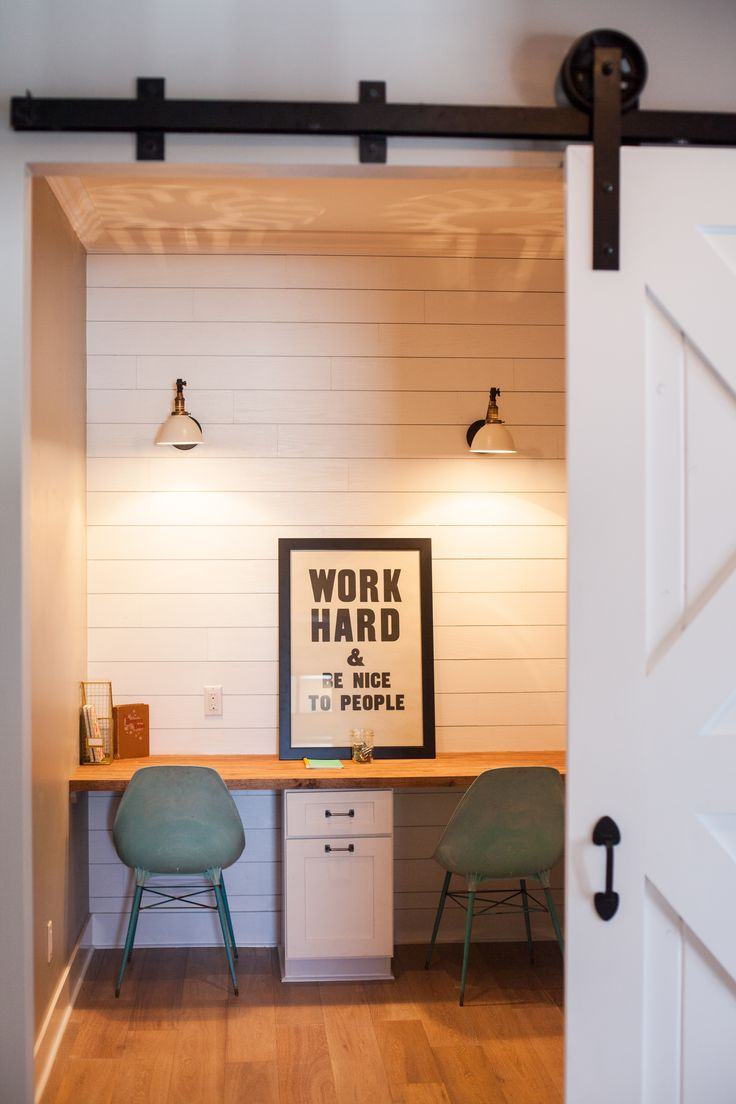 71 best office studio images on pinterest home office for Barn doors for home office
