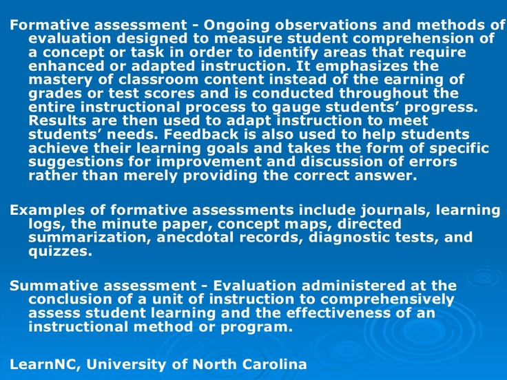 summative assessment preparation The smarter balanced assessment system has three components: the summative assessments, designed for accountability purposes interim assessments, designed to.