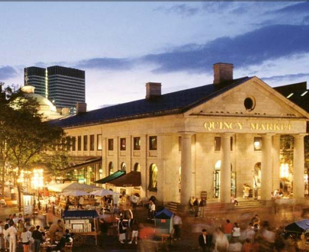 Fanueil Hall, Boston -    I worked on State Street - 2 streets over from this view - for about a total of 8 years.  Not a bad place to work!