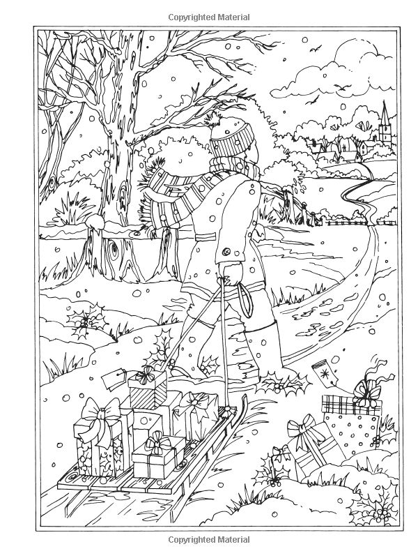free coloring pages winter wonderland - photo#27