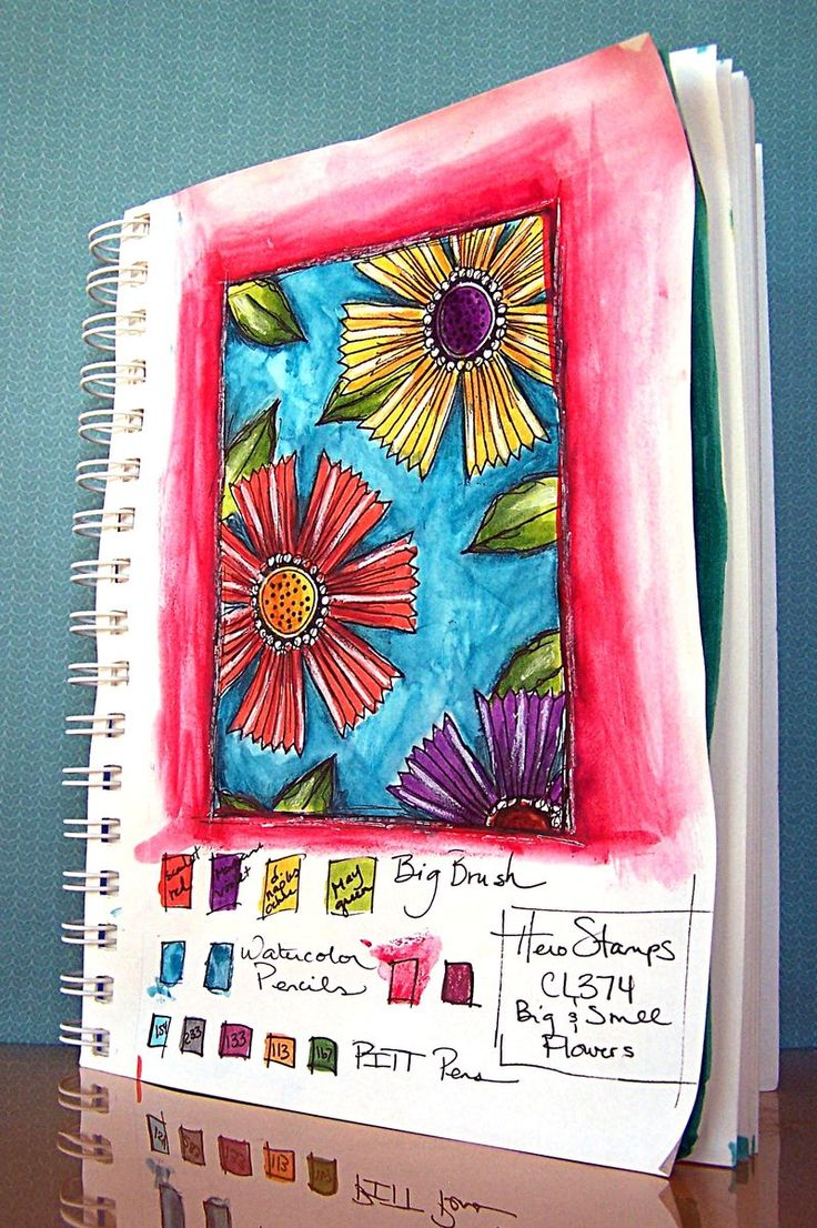 Art journals: shared pages and techniques. A Faber-Castell site with several contributors. So many ideas to try... blending own colors, spraying bubble wrap, spraying over coins to create negative space...