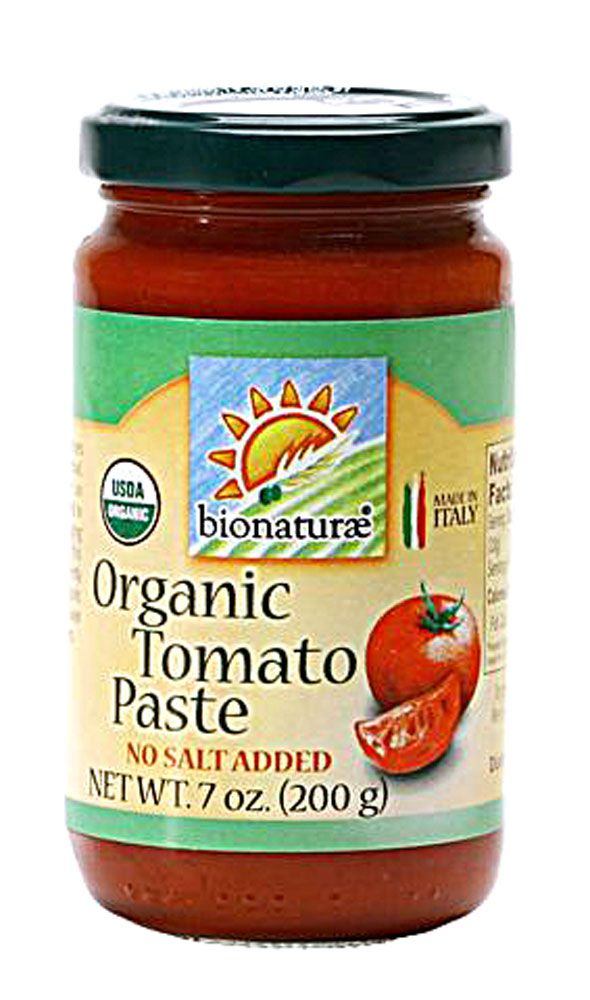 Bionaturae Organic Tomato Paste:  MADE IN ITALY AND CAN BE PURCHASED AT MOST…
