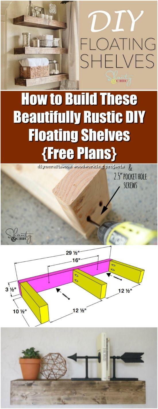 Best 25+ Rustic floating shelves ideas on Pinterest ...