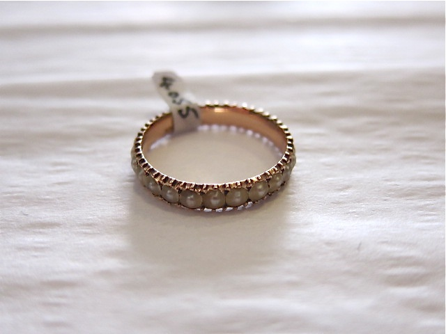 Vintage 1850s pearl eternity band-- cool!