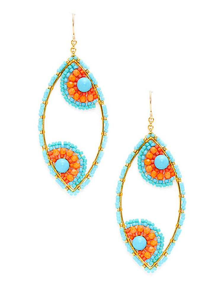 Cascading beads of every color, glittering Swarovski crystals, simulated quartz teardrops, fresh water pearls: you'll find all the above and more in designer Miguel Ases' exquisite collection of handmade jewelry. A former ballet dancer, Ases celebrates movement and elegance through his intricately detailed designs, which vary in theme from geometric and retro-Art Deco to Indian-influenced. Ases' amethyst deep sea earrings, multi-beaded circle bracelets, signature station necklaces, and ...