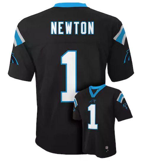 NWT 60$ Boys Carolina Panthers Cam Newton NFL Jersey Black T-shirt *LARGE 14/16 #NFL #CarolinaPanthers