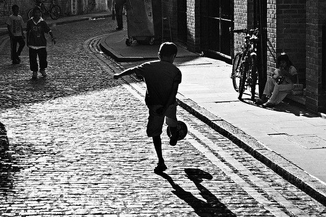 Street football IV by fabbio, via Flickr