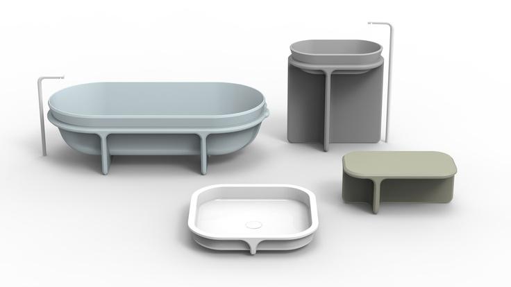 """""""Cristalplant Design Contest 2013"""" - Cristalplant+Falper - The winners -     Category: """"bathroom environment for the contract sector"""" -     Project: """"Controstampo"""" -     Designers: Paola Taccardi, Dario Gaudio e Vittorio Venezia"""