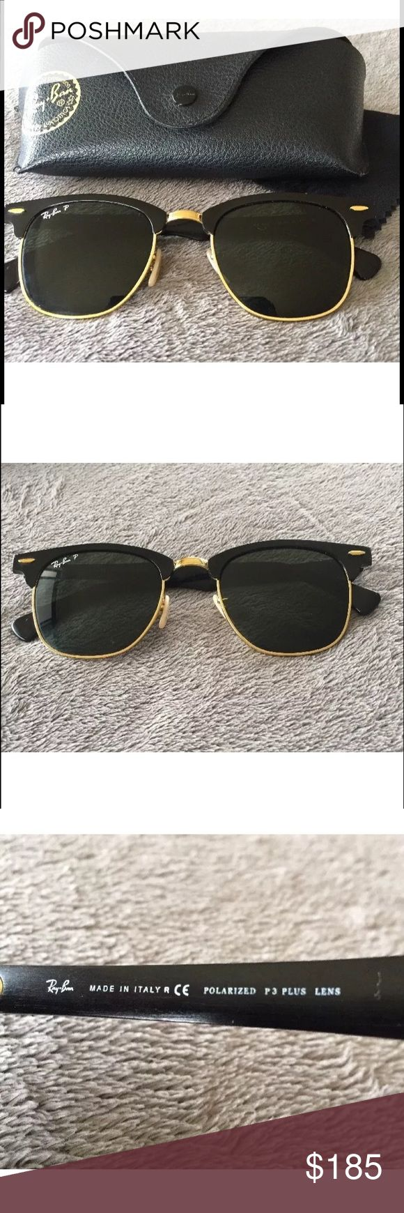 Ray-Ban Unisex Polarized Clubmaster Sunglasses Preowned. NO starches. Polarized. Case included. 🕶 Ray-Ban Accessories Sunglasses