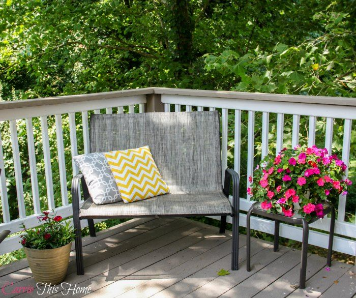 Budget Deck Makeover We found the perfect solution to take care of those nasty splinters in wood decks!