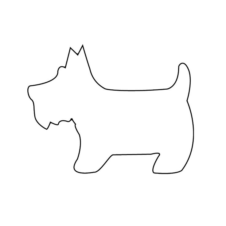 felt dog pattern   Trace the pattern on the felt using the white pencil and cut out ...