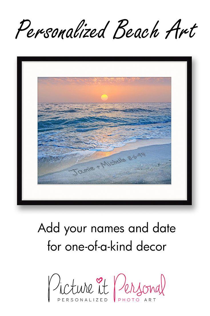A beautiful custom print for the beach-loving couple.