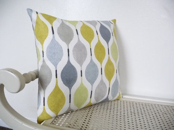 Retro Cushion Cover Lemon Grey Sage Zest  by FrancishouseDesign, £15.00