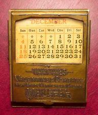 Antique 1920s Advertising Desk Clip / Perpetual Calendar ~ Valspar Varnish