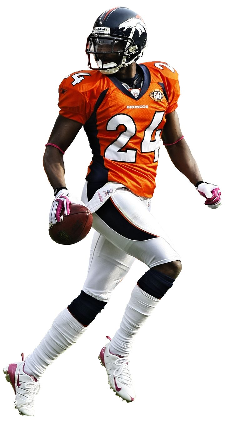 Champ Bailey - NFL Denver Broncos You could say he makes me smile...obsessed.
