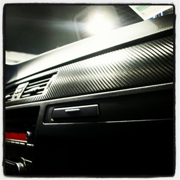 Carbon fiber wrapping for any vehicle.