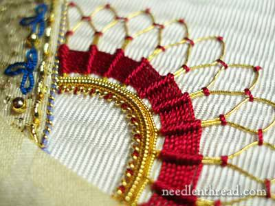Goldwork: Stretching Pearl Purl