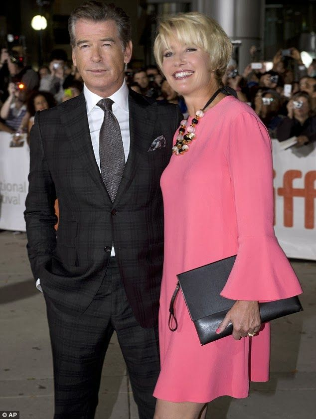 Emma Thompson and Pierce Brosnan - two of my absolutely favorites - looking sartorially splendid.