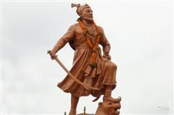 Chatrapati Shivaji Maharaj Standing Statue HD Wallpaper,Shivaji Maharaj Statue HD Wallpaper Free Download,Shivaji Maharaj Art HD Wallpaper And Images